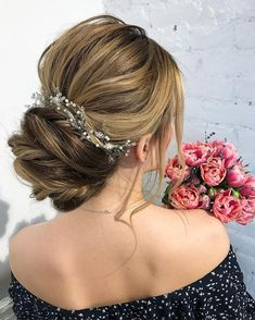 Get inspired by Gorgeous Wedding Hairstyles from updo to wedding hairstyles down.wedding hairstyles perfect for every season,chignon,boho wedding hairstyles