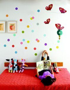 Kleinkinder Zimmer-Schmetterlinge Punkte Mädchen