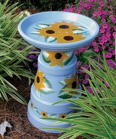 DaisyDee Art Studio - Handcrafted Bird Baths