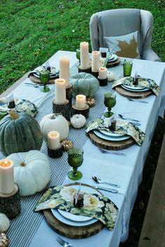 Pumpkin fall tablescape