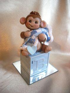 baby cake topper monkey