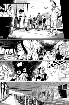 Eleonora Carlini — Batgirl #12 - Troubled Waters BW pagesW: Hope...