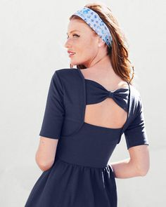 Charming Knit Dress by garnet hill with cut-out back