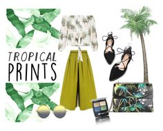 """""""tropical vibes"""" by thebaunila ❤ liked on Polyvore featuring BIG PARK, Isadora, Gucci, Matthew Williamson, New Look, tropicalprints and hottropics"""