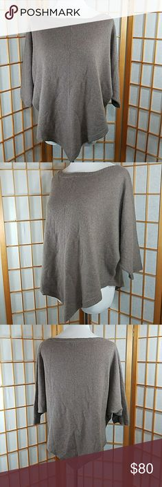 "360 Cashmere dolman sleeve asymetrical sweater 360 Cashmere, dolman sleeve, asymetrical hem sweater. Light brown color, very soft and comfortable. Wide neck, could also be worn off one shoulder. Size Medium Measures approx 33"" across the chest from mid part of sleeves, 23"" across waist. 17"" long from the top of the shoulder to the shortest part of hem. 26"" long from the top of the shoulder to longest part of the hem. 360 Cashmere Sweaters"