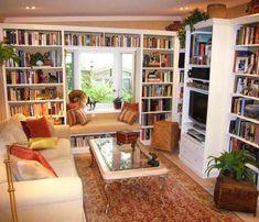 calisma odasi ev kitapligi 7 Çok Keyifli Çalışma Odası ve Kitaplık Tasarımları