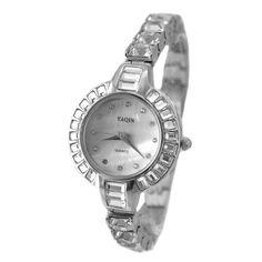FW864B NATURAL PNP Shiny Silver Watchcase White Dial Ladies Women Bracelet Watch