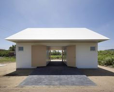 japanese firm international royal architecture, or I., has completed 'ISM house' in isumi, chiba, japan. Japan Architecture, Religious Architecture, Building Architecture, Residential Architecture, Contemporary Architecture, Architecture Design, Bottle House, Compact House, Amazing Buildings