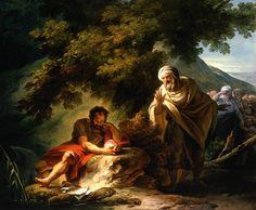 Pictorial art Francois-Andre Vincent - Democritus among the Abderitans