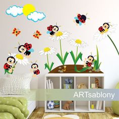 Nálepky na stenu- Lienkovo od www.ARTsablony.sk