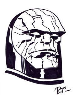 Darkseid Sketch by Bruce Timm