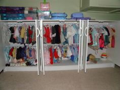 AG storage. looks like shelves were replaced with bars (: Gee I wonder how many outfits I will collect!