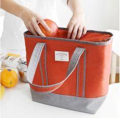 Large Fleur Blanche Lunch Bag
