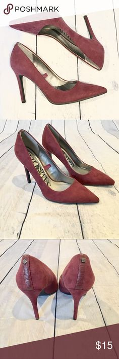 Burgundy Suede Sam & Libby Pumps Pointy toed burgundy / maroon Suede pumps / heels by Sam & Libby.  Size 8.  Great condition! Sam & Libby Shoes Heels