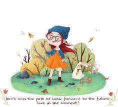 #niña #paisaje