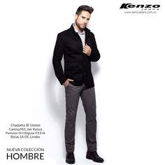 La nueva colección Hombre te hará ver casual pero elegante, encontrarás tonos, cálidos, fríos y neutros que se pueden combinar con todo tipo de prendas. Más información en www.kenzojeans.com.co
