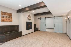 basement fireplace barn doors