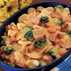 Polish Sausage Recipes with Potatoes   ... Gratin Sausage Skillet Recipe   Main Dish - Pork, Ham Sausage, hot