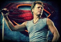 Jon Bon Jovi is infact the superman. wow.<3 this pic!