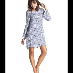 New Roxy City Limits Long Sleeve Dress