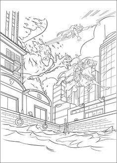 Thor Målarbilder för barn. Teckningar online till skriv ut. Nº 7