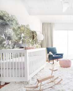 """Think about your whole home. """"The nursery is an extension of the personal style you're already using in the rest of your living space. Are you modern? Or traditional? The baby's room should flow with that."""" —Melisa Fluhr, cofounder of Project Nursery  Gather ideas. """"One image from a magazine or Pinterest can set the tone. Having a theme in mind is helpful, but it doesn't have to be elaborate. It can be as simple as two coordinating colors, an object, or an animal. The less babyish your…"""