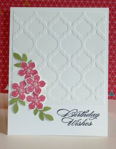 Beautiful card using the Petite Petals bundle from Stampin' Up!'s Occasions catalog.  For more information, contact me through http://lindamadison.stampinup.net.