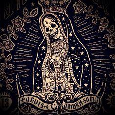 danielmartindiaz:  Santa Muerte poster at Sacred Machine.