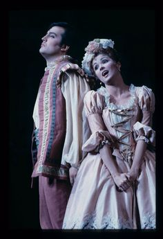 Costumes from Don Giovanni, set in the later part of the 18th century