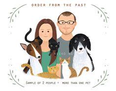custom portrait, couple portrait, with or without pet.