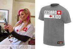 "Natalya-wwe-topCesara & Tyson Kidd ""Established"" t-shirt. Wwe Total Divas, Tyson Kidd, Shirt Shop, T Shirt, Season 4, Tv Shows, How To Wear, Clothes, Shopping"