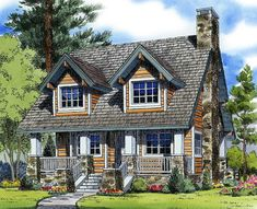 Looking for the best house plans? Check out the Edgemoor Cottage plan from Southern Living. Log Cabin Floor Plans, Cabin House Plans, Mountain House Plans, Best House Plans, Small House Plans, House Floor Plans, Mountain Cabins, Cottage House Plans, Cottage Homes