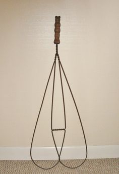 19th Century Rug Beater with Wood Handle ~ SOLD