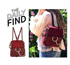"""""""Daily Find: Chloé Backpack"""" by polyvore-editorial ❤ liked on Polyvore featuring Chloé and DailyFind"""
