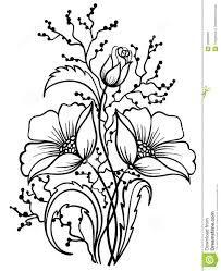 Risultati immagini per fiori in bianco e nero da colorare