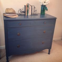 annie sloan chalk paint napoleonic blue and graphite mixed - for nightstands
