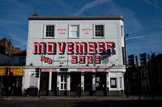 Side shot, Movember Mural at the Barfly, Camden