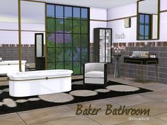 Sims 4 CC's - The Best: Bathroom Baker by ShinoKCR