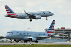 American Airlines Airbus A319-100 & American Eagle (Republic Airlines) Embraer 175 (Enhanced) at Miami International Airport