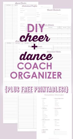 Coach Organization: DIY Coaches Binder FREE Coaching printables and Advice for staying organized with a coaches binder!FREE Coaching printables and Advice for staying organized with a coaches binder! High School Cheerleading, Cheerleading Cheers, Football Cheer, Basketball Cheers, Varsity Cheer, Girls Basketball, Girls Softball, Volleyball Players, Cheerleading Quotes