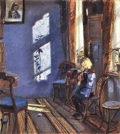 Anne Ancher - Sunshine in the Blue Room 1891
