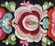 Hungarian Embroidery Patterns Kim Marie's Embroidery: Beautiful examples of Norwegian embroidery. Hungarian Embroidery, Learn Embroidery, Crewel Embroidery, Embroidery Patterns, Flower Embroidery, Seed Stitch, Cross Stitch, Scandinavian Embroidery, Broderie Simple