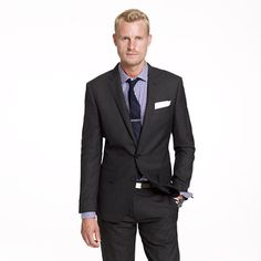 Ludlow two-button suit jacket with center vent in Italian wool - J. Crew