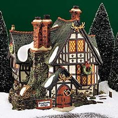 """Department 56: Products - """"Staghorn Lodge"""" - View Lighted Buildings"""