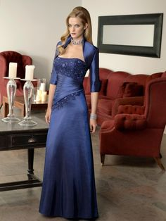 Floor Length Chiffon Mother of the Bride Dress Featuring off the Shoulder Straps ML70331