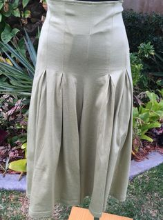 Vintage New With Tags Italian Angela Khaki High Waisted Boho Culottes Size 8-10  FREE FREIGHT WORLDWIDE by PippiLime on Etsy