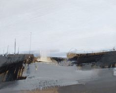 Anna King / Road / 21 x 26 cm/ Oil and pencil on paper and board Creative Landscape, Pastel Landscape, Landscape Artwork, Urban Landscape, Abstract Landscape, Anna King, Seascape Paintings, Painting Inspiration, Watercolor Art