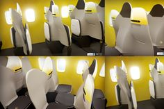 With cascading seats, the HD31 upgrades legroom and plane capacity on short-haul flights
