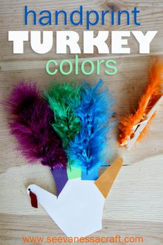 Handprint Turkey Colors - Toddler Activity