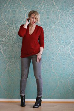 A fashion blog for women over 40 and mature women  http://www.glamupyourlifestyle.com/  Sweater + Pants: Zara Booties: Marc Jacobs